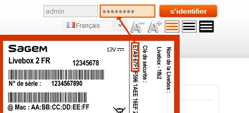 Orange Livebox 2 mot de passe