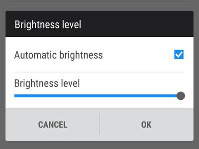 HTC One M9 luminosite automatique