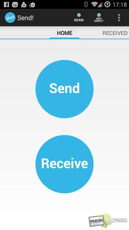 Send, envoyer un fichier