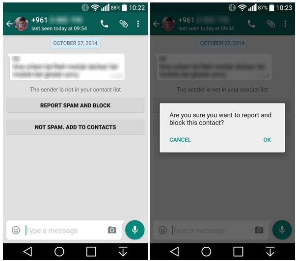 WhatsApp spam