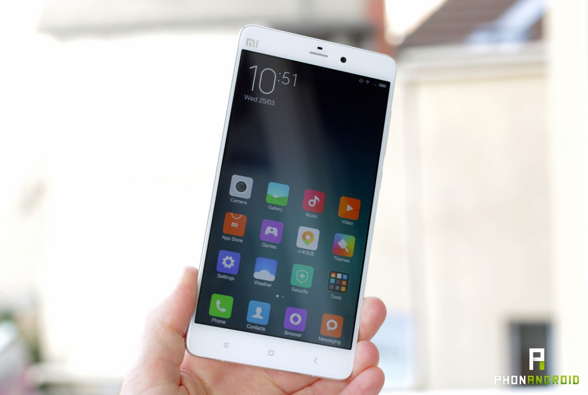 xiaomi mi note luminosite ecran