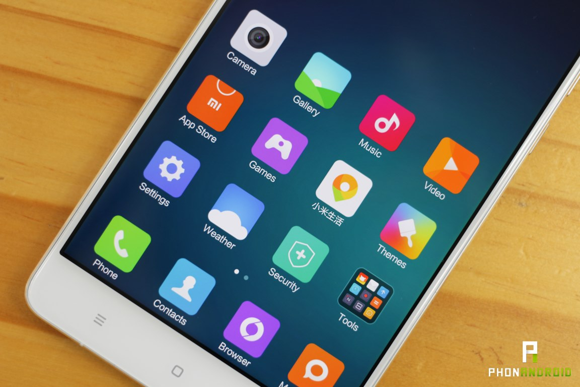 xiaomi mi note resolution ecran