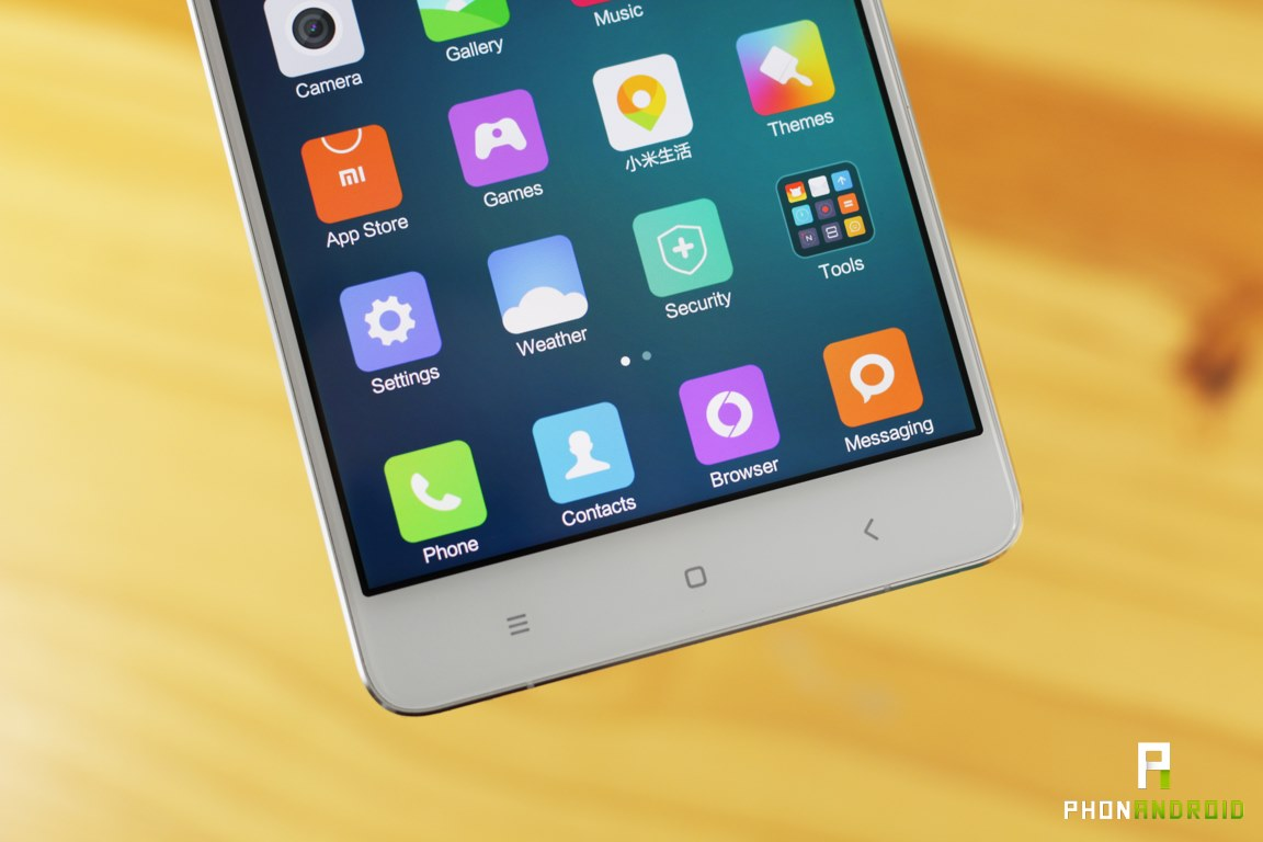xiaomi mi note touche tactile