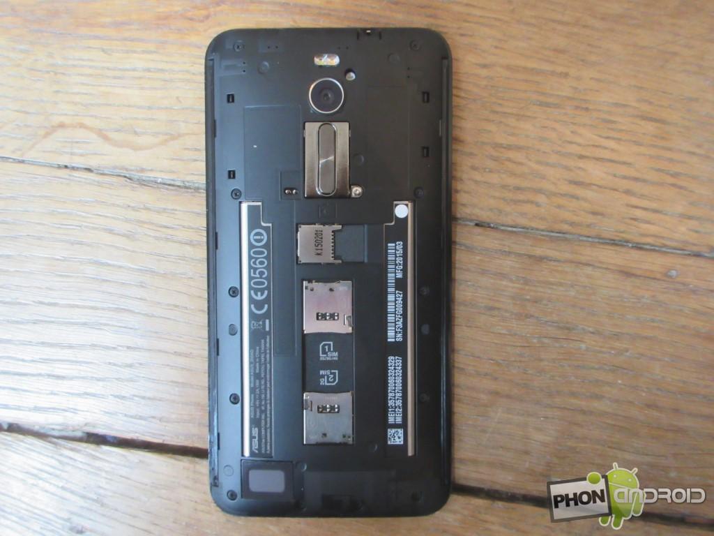 Zenfone 2, coque enlevée