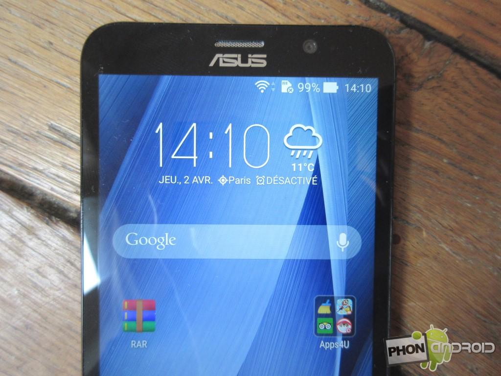 Zenfone 2, détail de l'écran