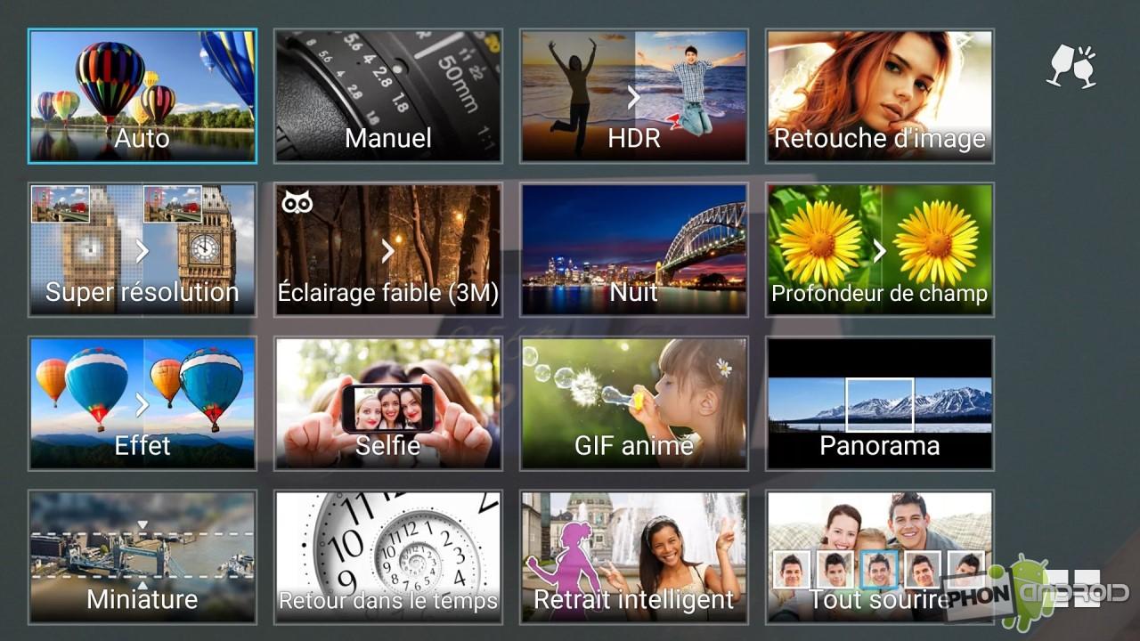 Zenfone 2, interface photo
