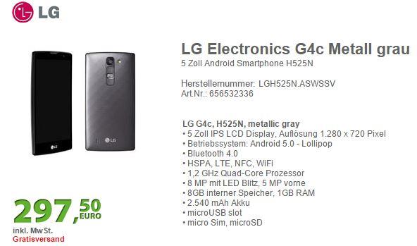 LG G4c fiche technique