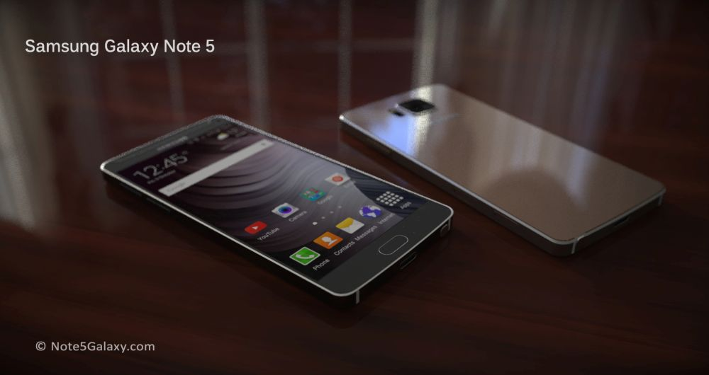 Galaxy Note 5 concept face