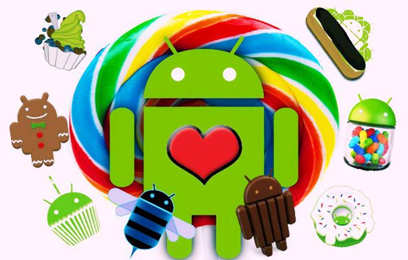 android google choisi noms desserts
