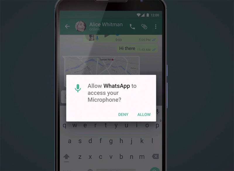 android m app permissions