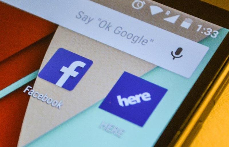 facebook integre here nokia