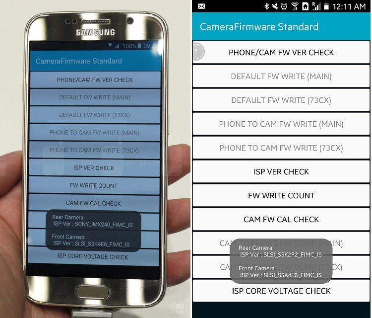 capteurs photo Galaxy S6