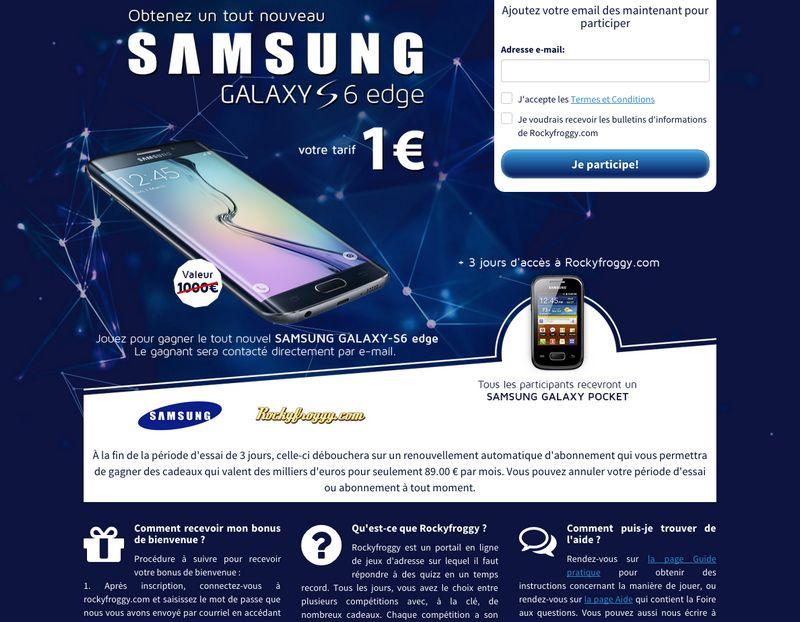 Galaxy S6 arnaque