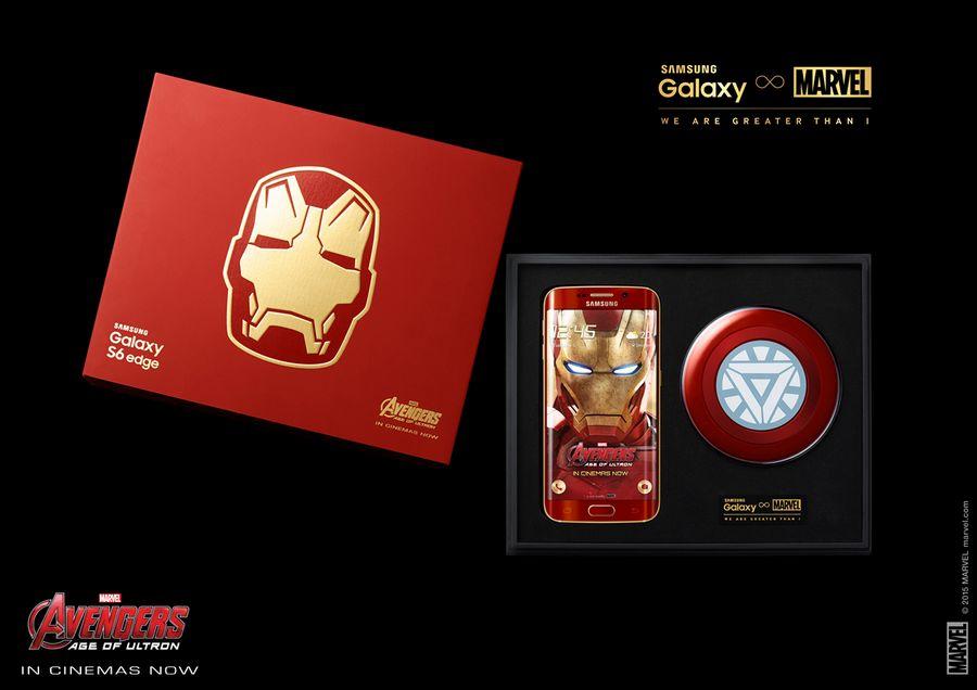 Galaxy S6 Edge Iron Man boite