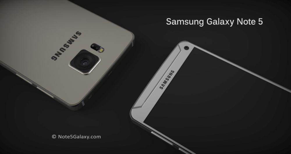 Galaxy Note 5 concept camera