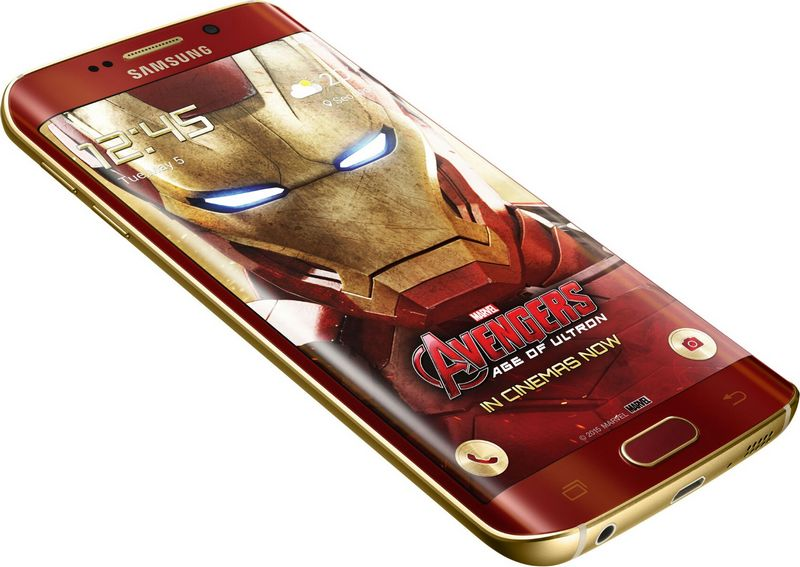 Galaxy S6 Edge Iron Man bord