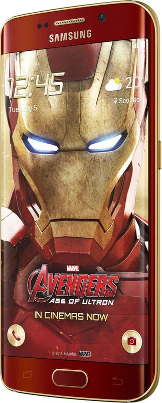 Galaxy S6 Edge Iron Man face
