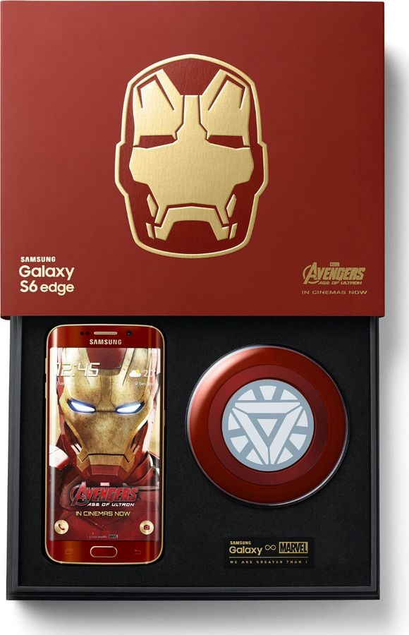 Galaxy S6 Edge Iron Man packaging