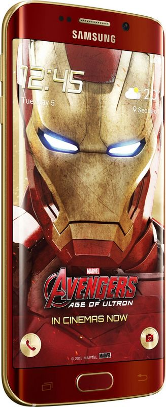 Galaxy S6 Edge Iron Man vue