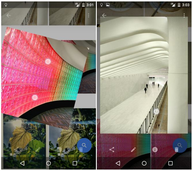 Google Photos modification images