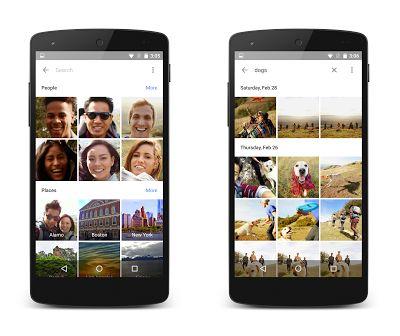 Google Photos organisation