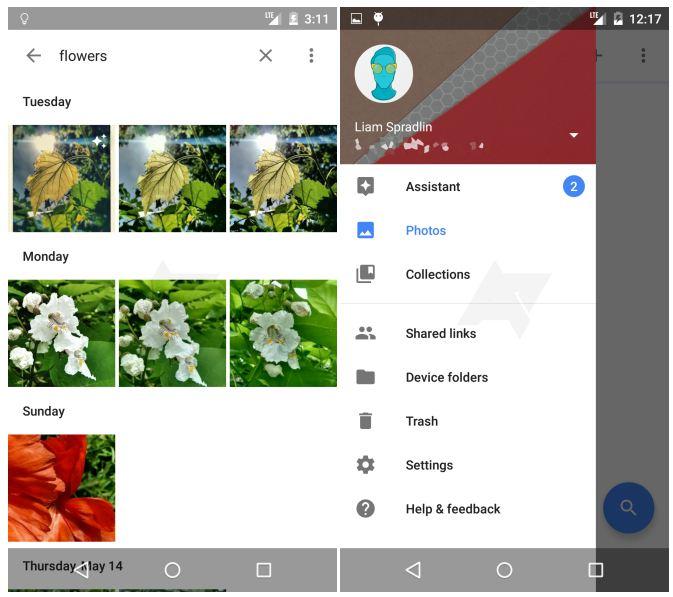 Google Photos reconnaissance images