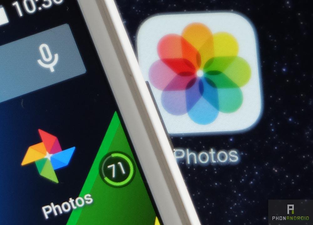 google photos vs ios photos application