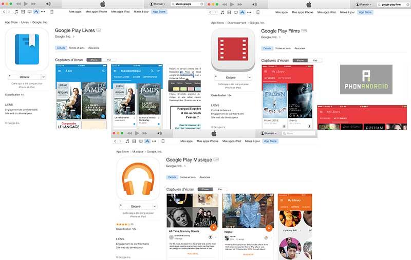 google play store app store multimedia
