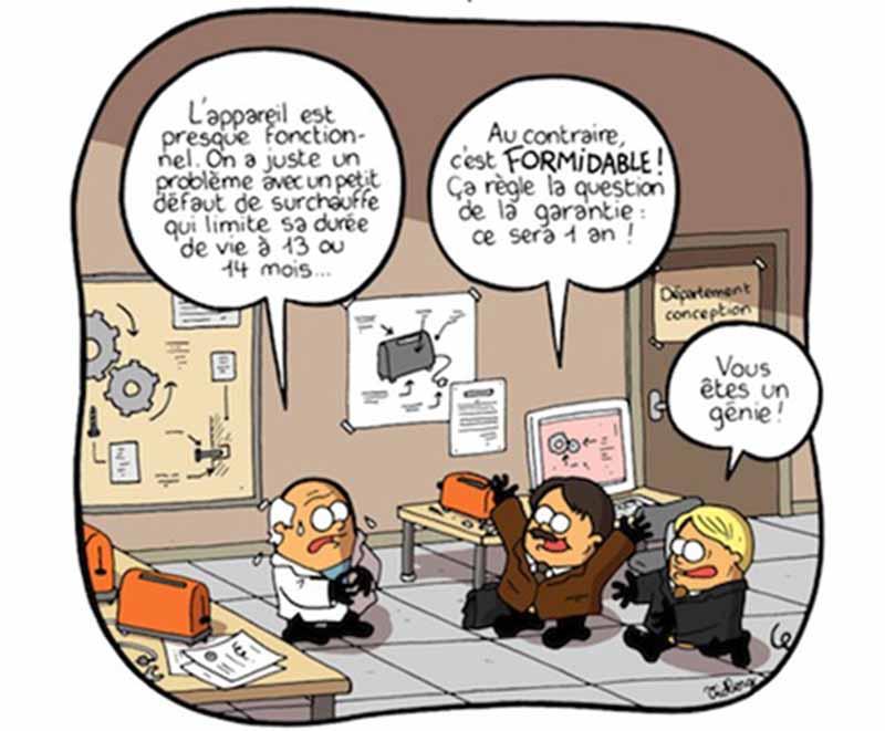 obsolescence programmée caricature