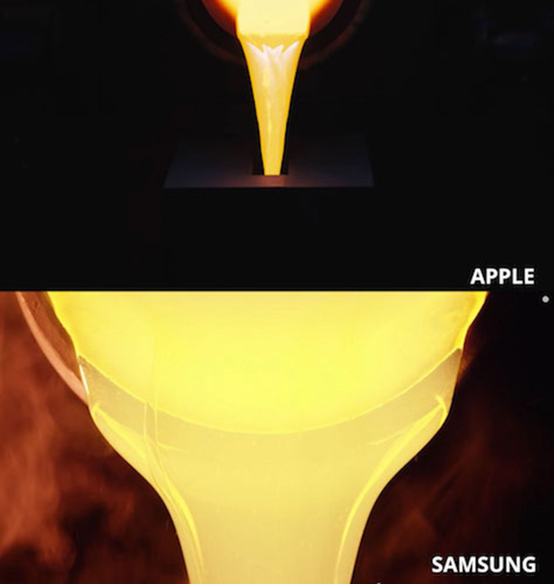 samsung copie apple watch publicite