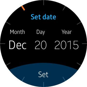 Samsung Gear A date
