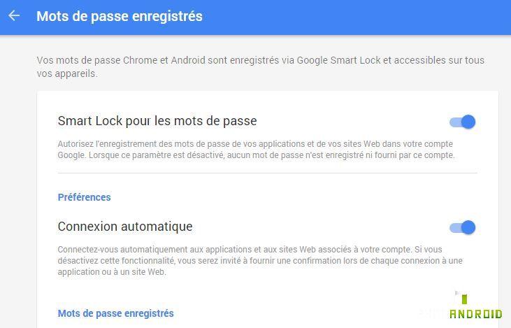 Smart Lock mots de passe