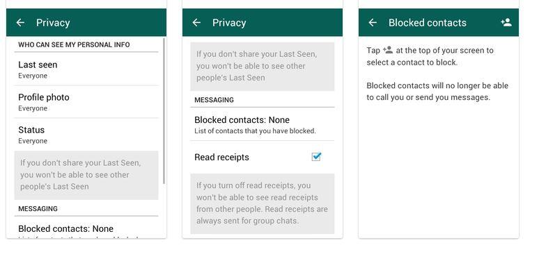 WhatsApp confidentialite