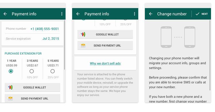 WhatsApp paiement