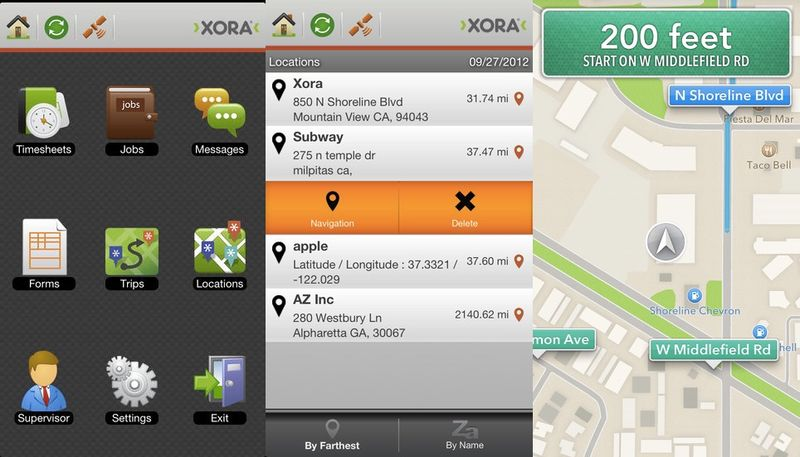 application GPS Xora