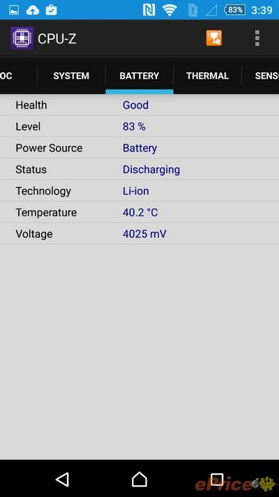 Xperia Z3+ température