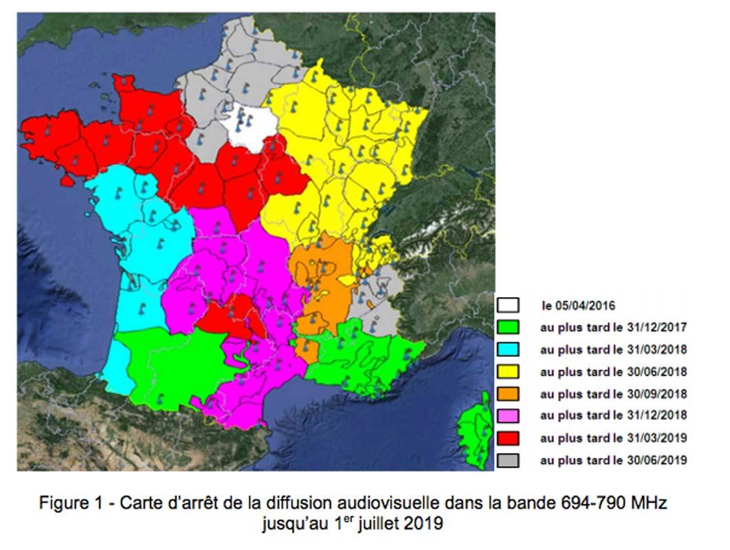 700 MHz 4G france opérateurs