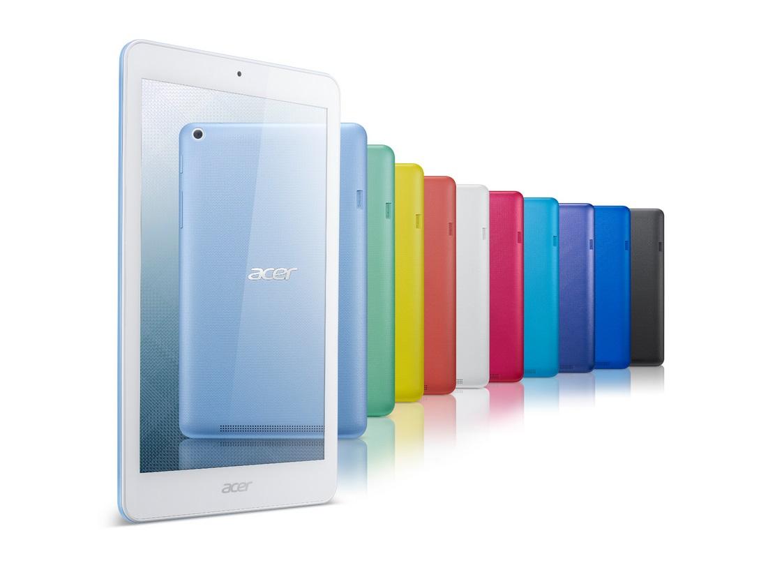 Différents coloris pour l'Acer Iconia One 8