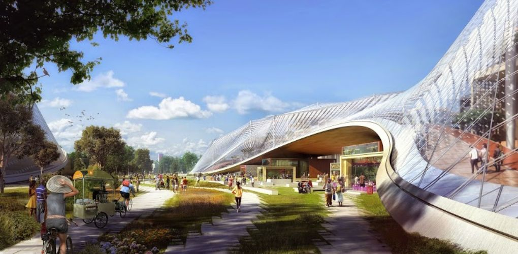 Concept art rejeté pour le Google North Bayshore Campus HQ