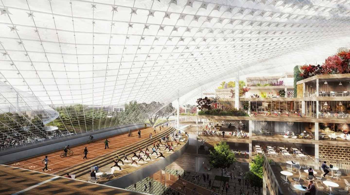 Concept art rejeté pour le Google North Bayshore Campus HQ