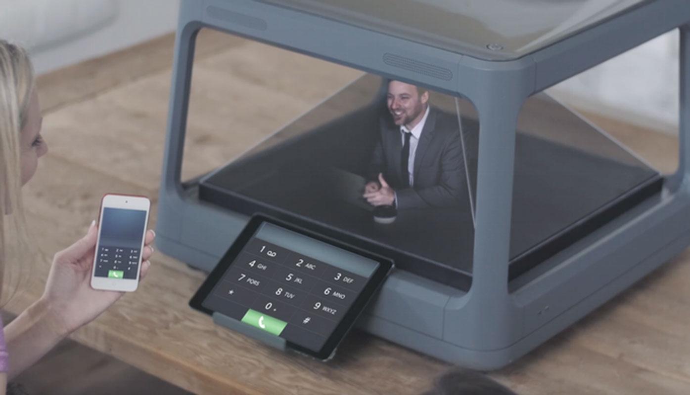 Holus 3D hologramme appel