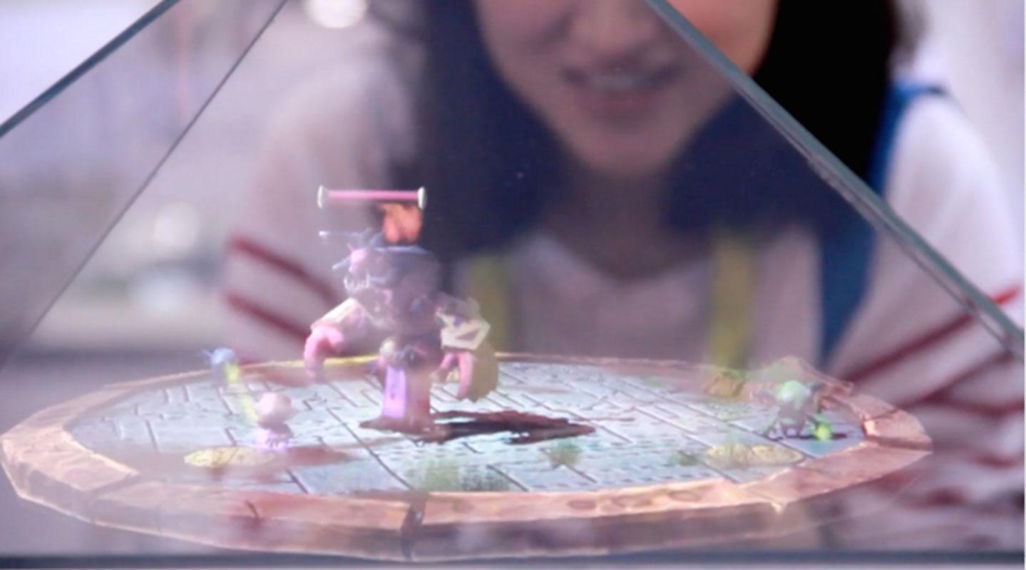 Holus hologramme 3D jeu
