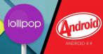Android Lollipop KitKat