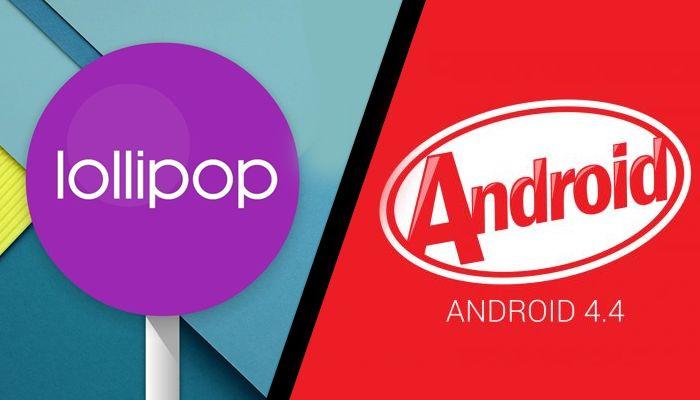 Android Lollipop KitKat