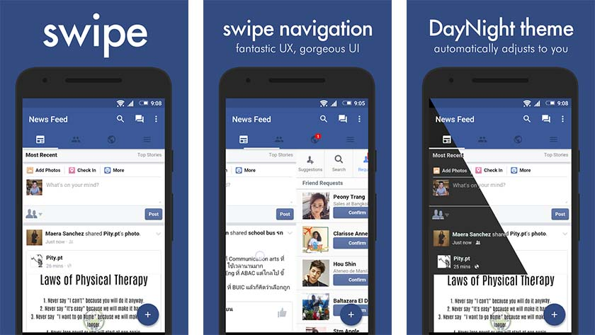 Swipe-facebook-application