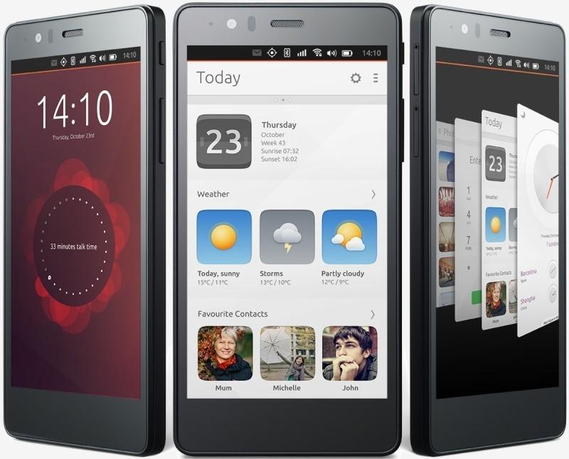 Aperçu de l'Aquaris E5 HD Ubuntu Edition
