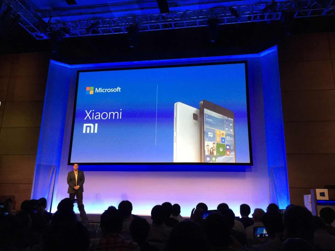 Conférence Xiaomi Microsoft