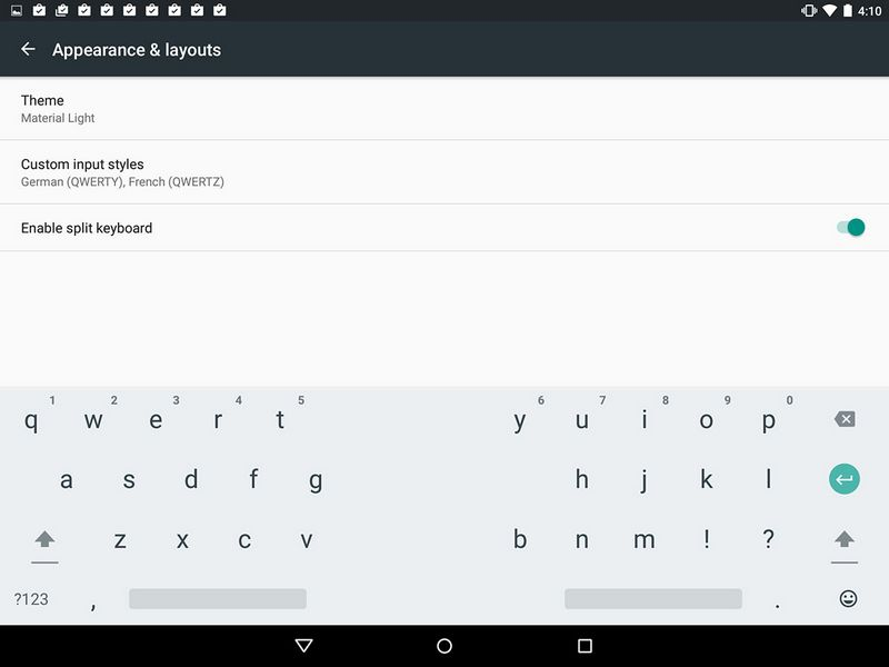clavier Android M