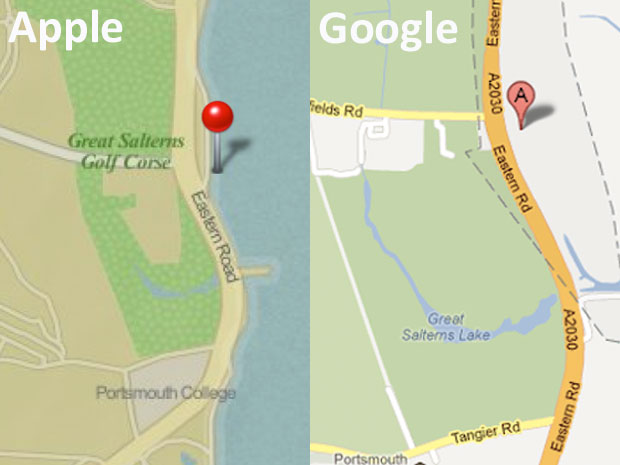 Apple Maps et Google Maps