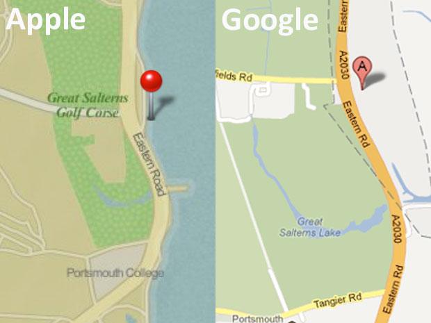 Apple Maps et Google Maps